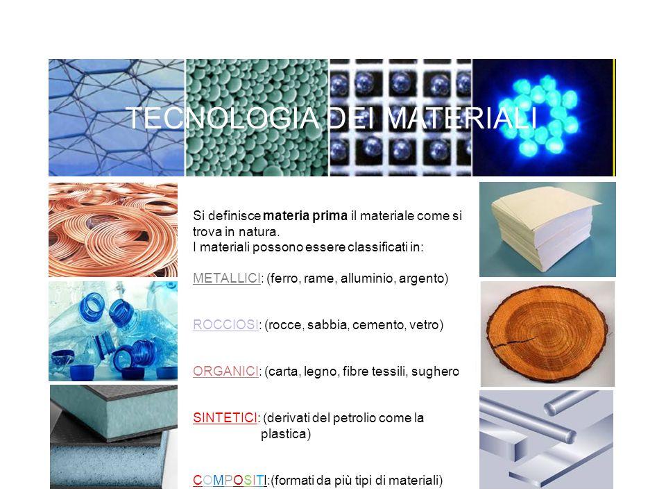 TECNOLOGIA DEI MATERIALI