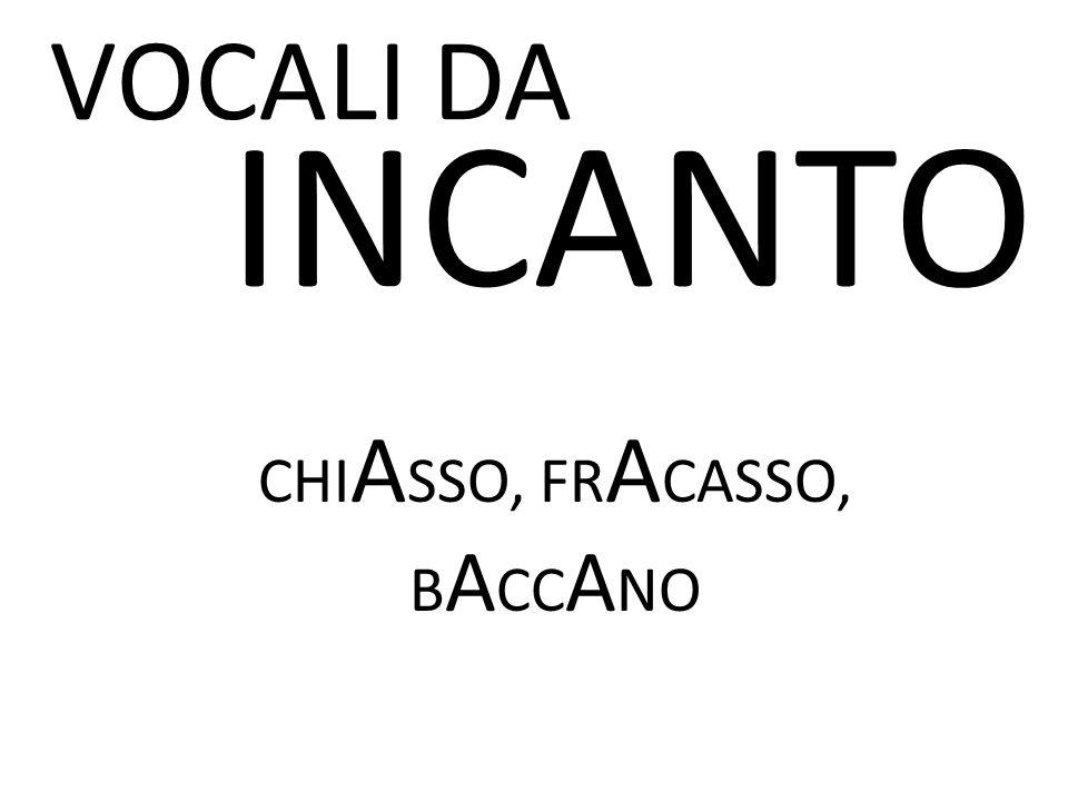 CHIASSO, FRACASSO, BACCANO
