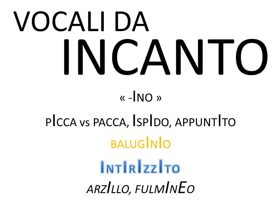 PICCA vs PACCA, ISPIDO, APPUNTITO
