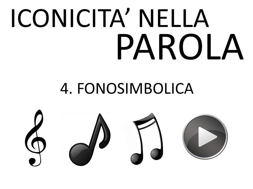 ICONICITA' NELLA PAROLA 4. FONOSIMBOLICA