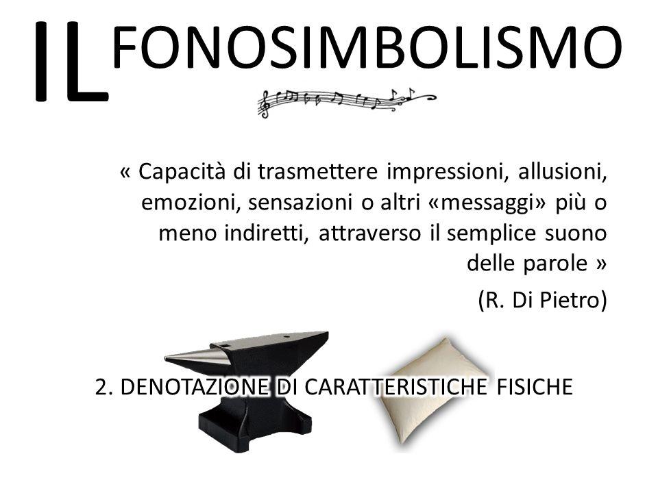 2. DENOTAZIONE DI CARATTERISTICHE FISICHE