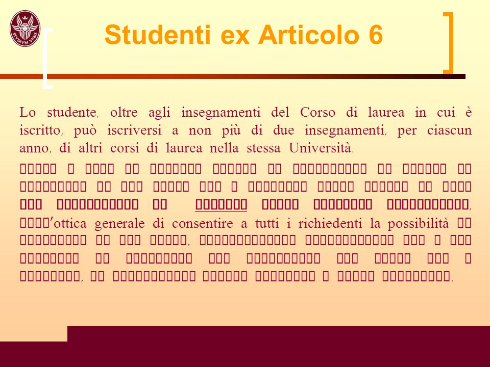 Studenti ex Articolo 6