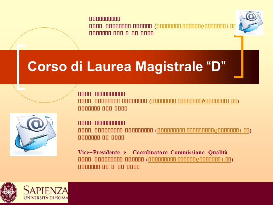 Corso di Laurea Magistrale D