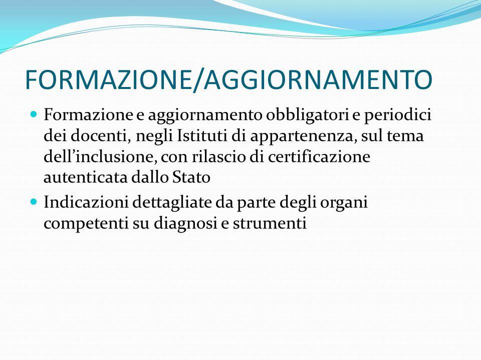 FORMAZIONE/AGGIORNAMENTO