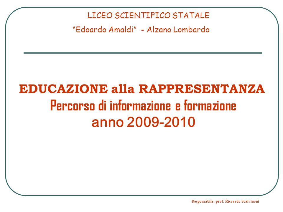 Percorso di informazione e formazione anno 2009-2010