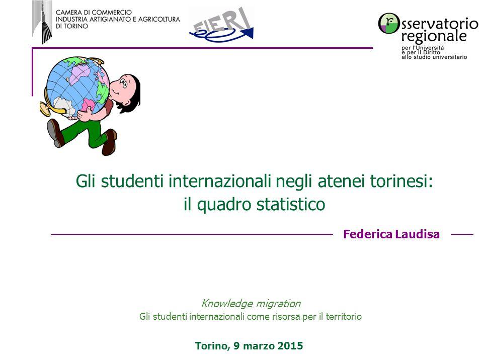 Gli studenti internazionali negli atenei torinesi: