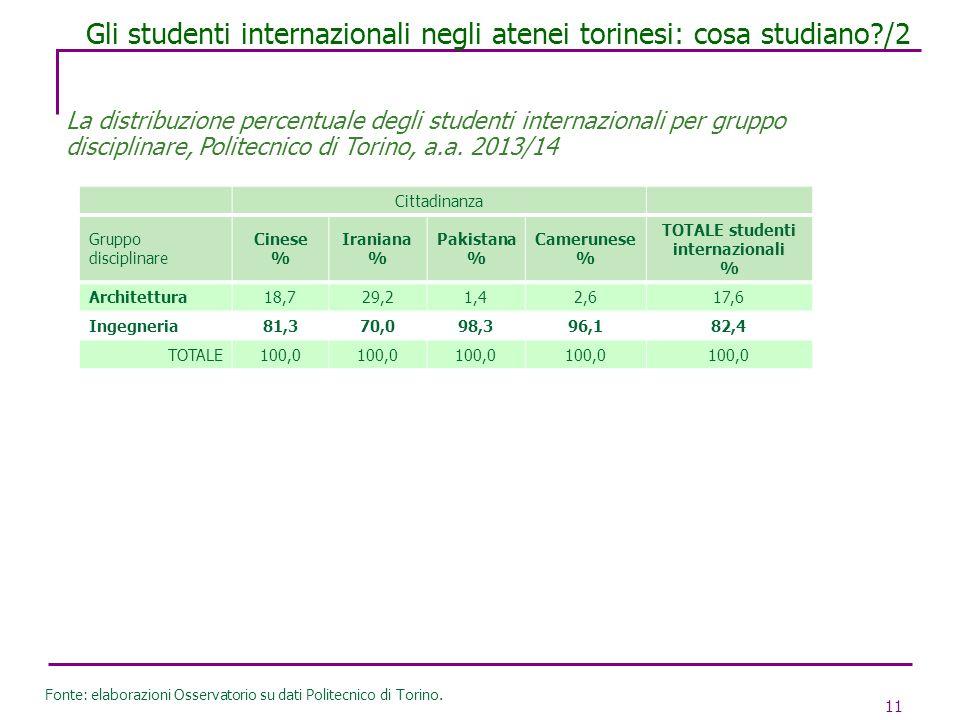 Gli studenti internazionali negli atenei torinesi: cosa studiano /2