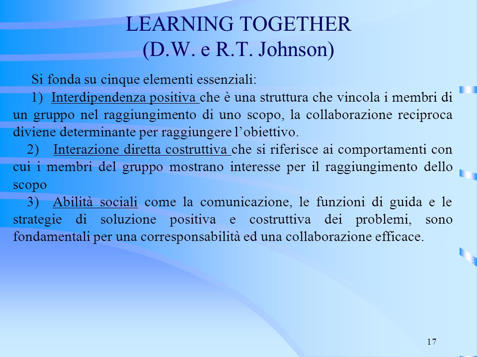 LEARNING TOGETHER (D.W. e R.T. Johnson)