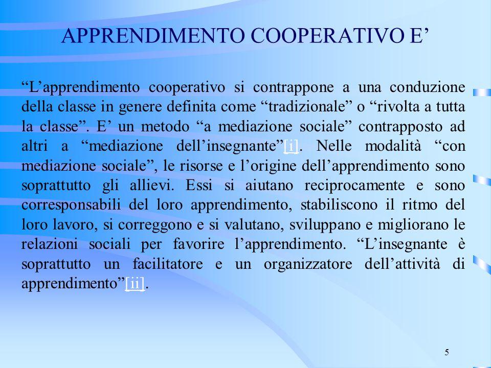APPRENDIMENTO COOPERATIVO E'