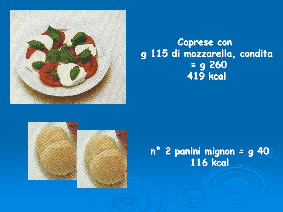 g 115 di mozzarella, condita