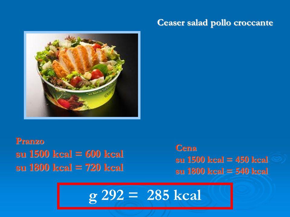 Ceaser salad pollo croccante
