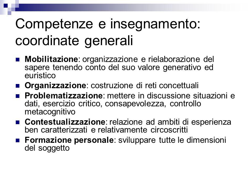 Competenze e insegnamento: coordinate generali