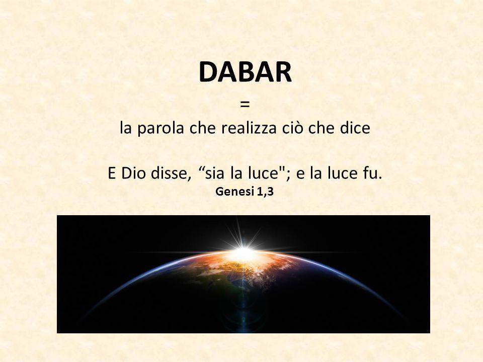 DABAR = la parola che realizza ciò che dice