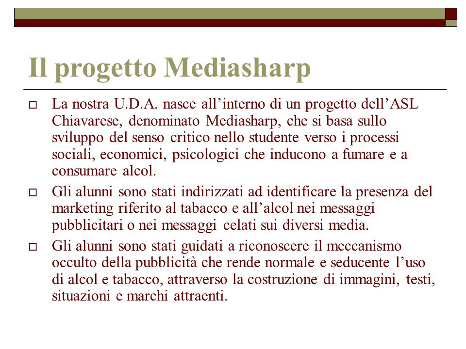 Il progetto Mediasharp