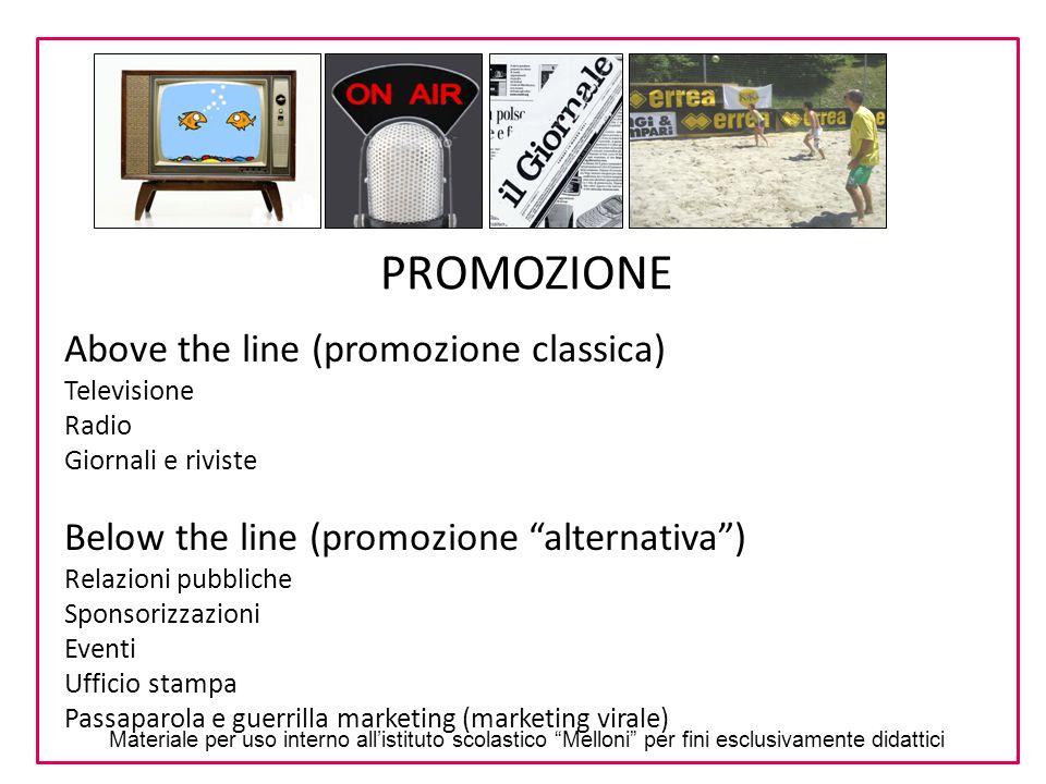 PROMOZIONE Above the line (promozione classica)