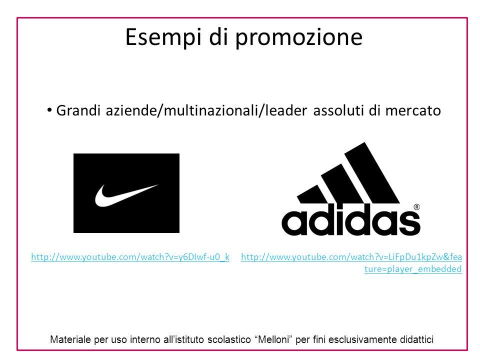 Grandi aziende/multinazionali/leader assoluti di mercato