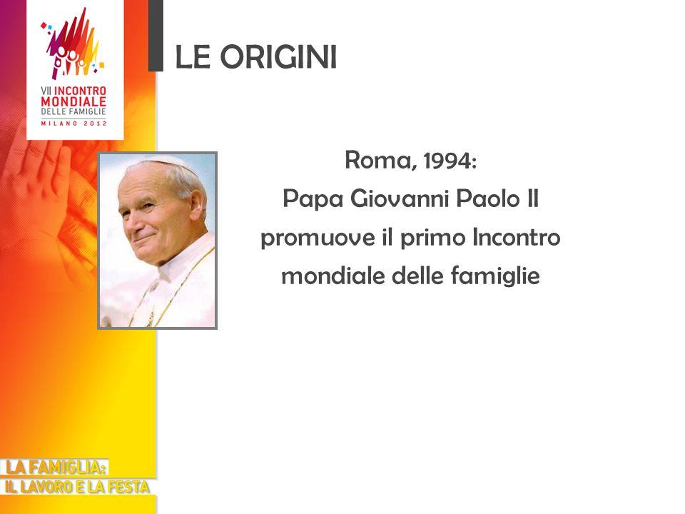 LE ORIGINI Roma, 1994: Papa Giovanni Paolo II