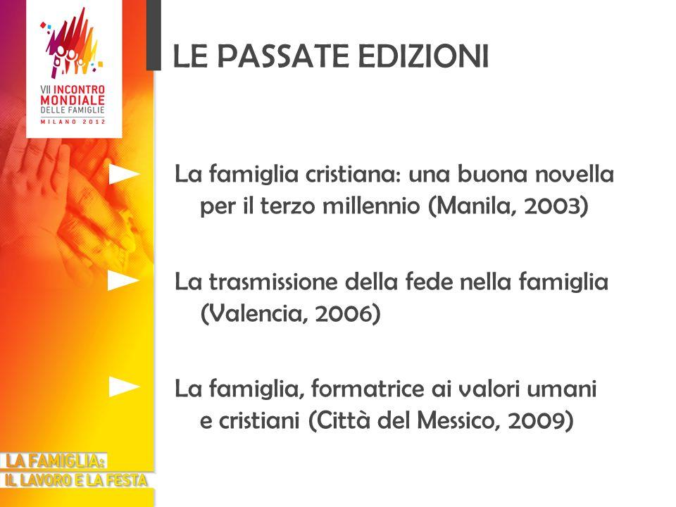 LE PASSATE EDIZIONI La famiglia cristiana: una buona novella per il terzo millennio (Manila, 2003)