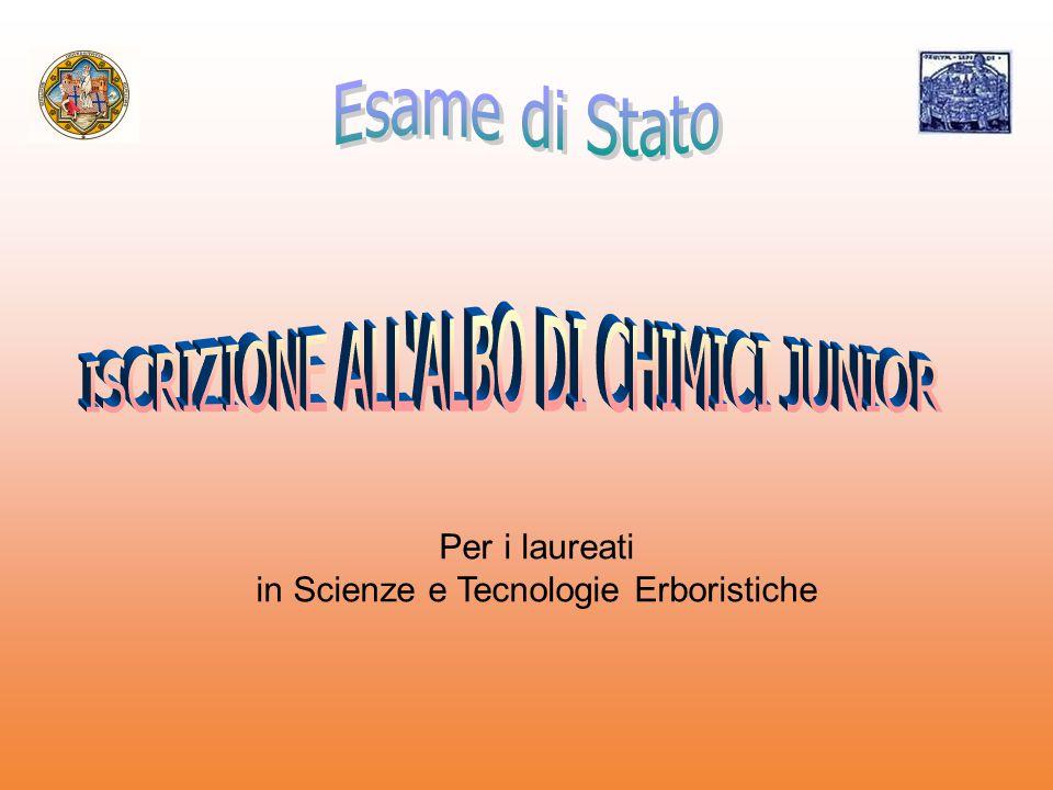in Scienze e Tecnologie Erboristiche