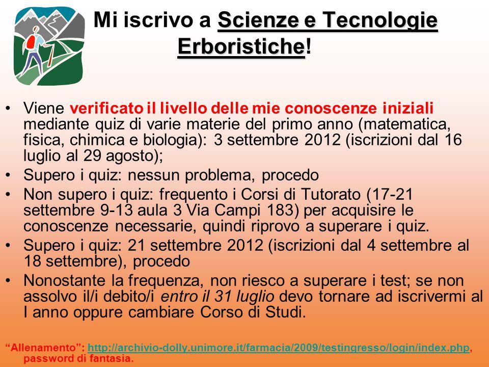 Mi iscrivo a Scienze e Tecnologie Erboristiche!