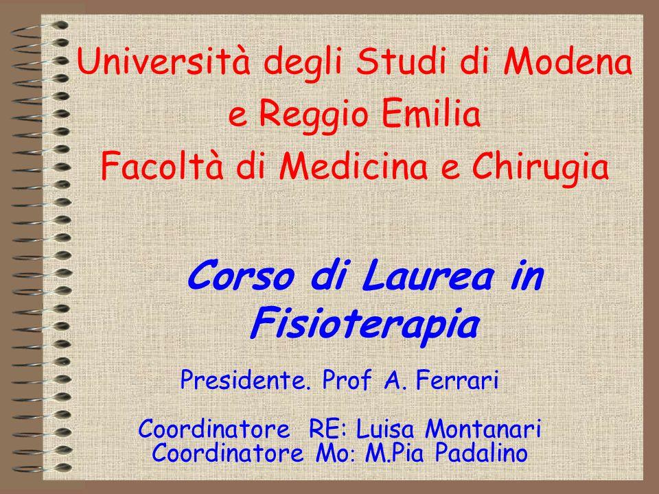 Corso di Laurea in Fisioterapia