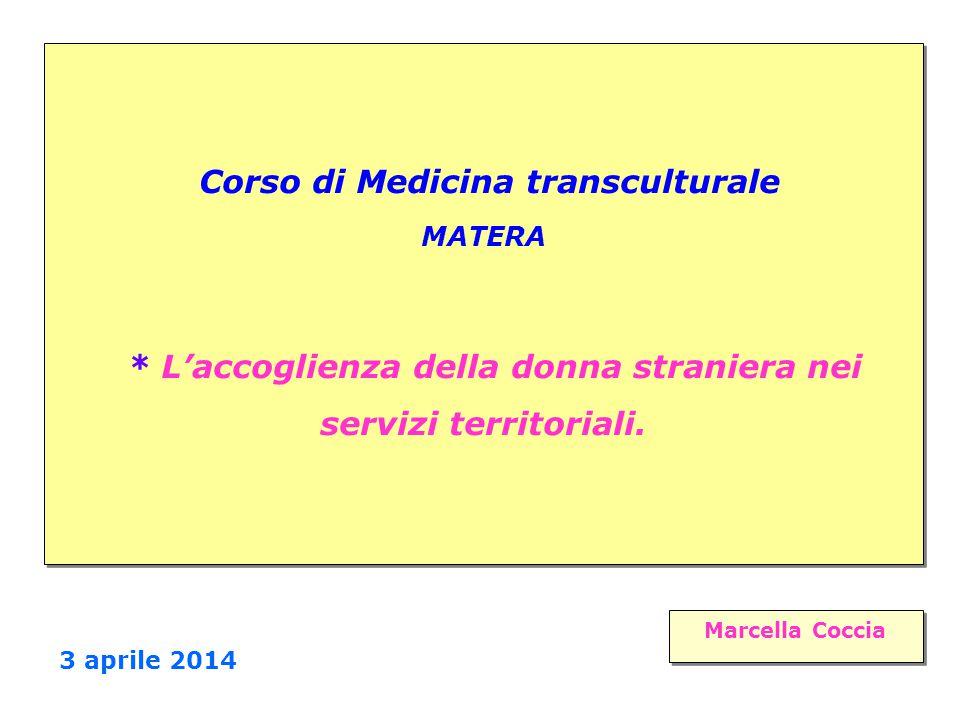Corso di Medicina transculturale MATERA