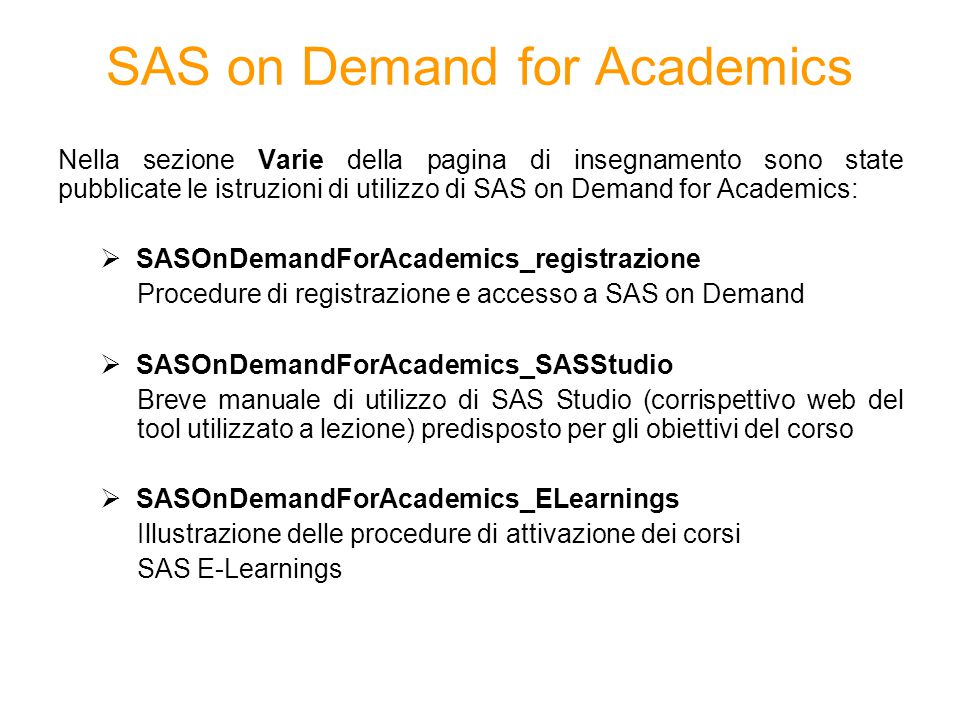 SAS on Demand for Academics