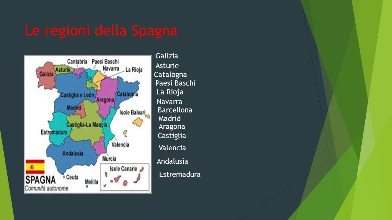 Le regioni della Spagna