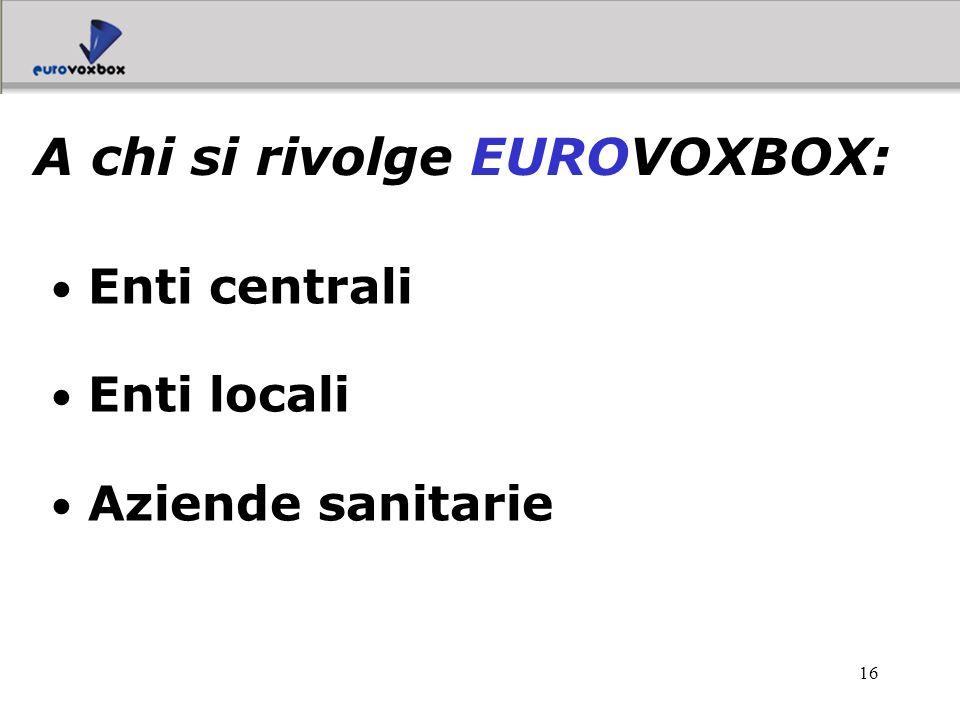A chi si rivolge EUROVOXBOX: