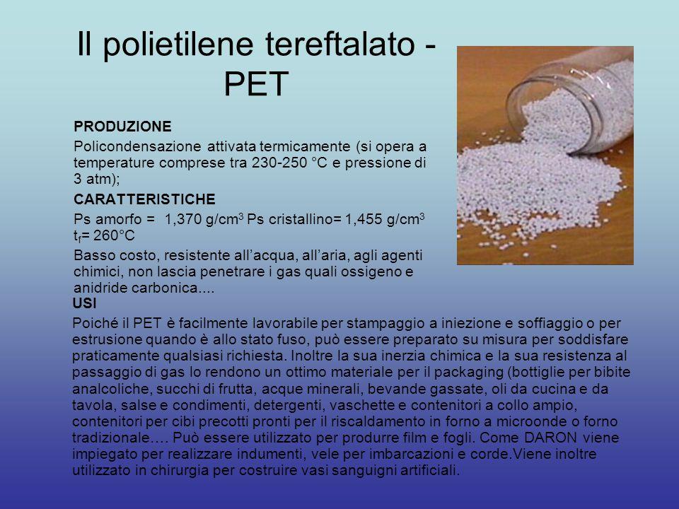 Il polietilene tereftalato - PET