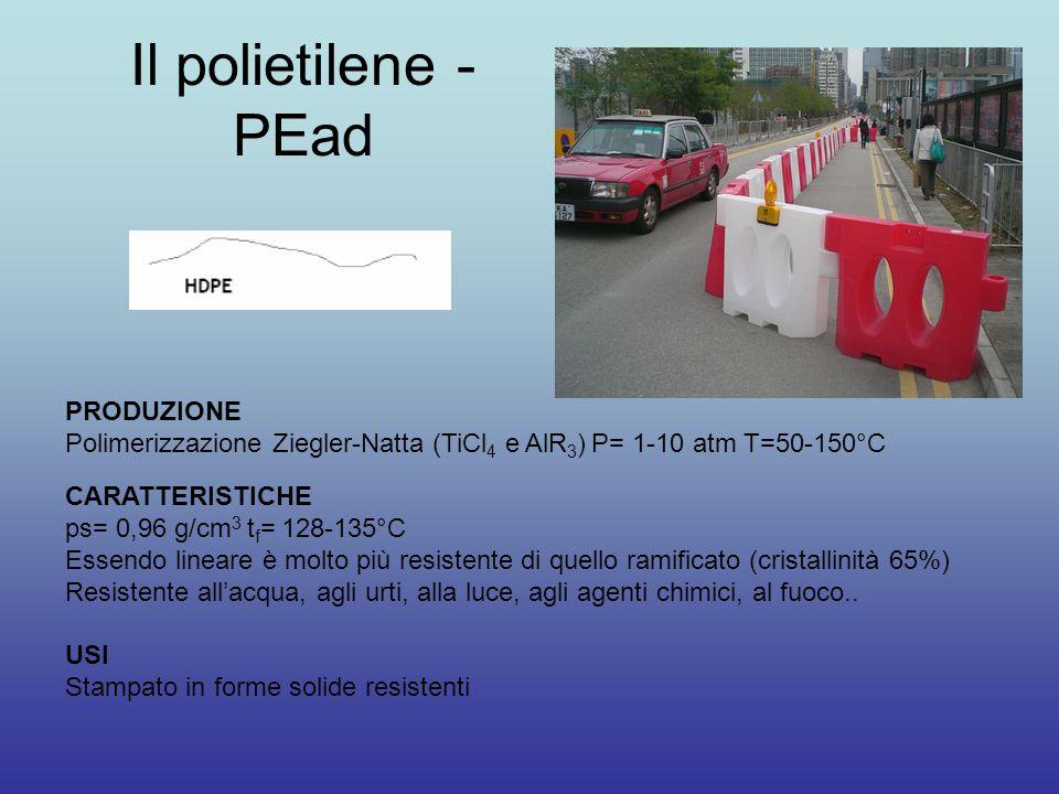 Il polietilene - PEad PRODUZIONE