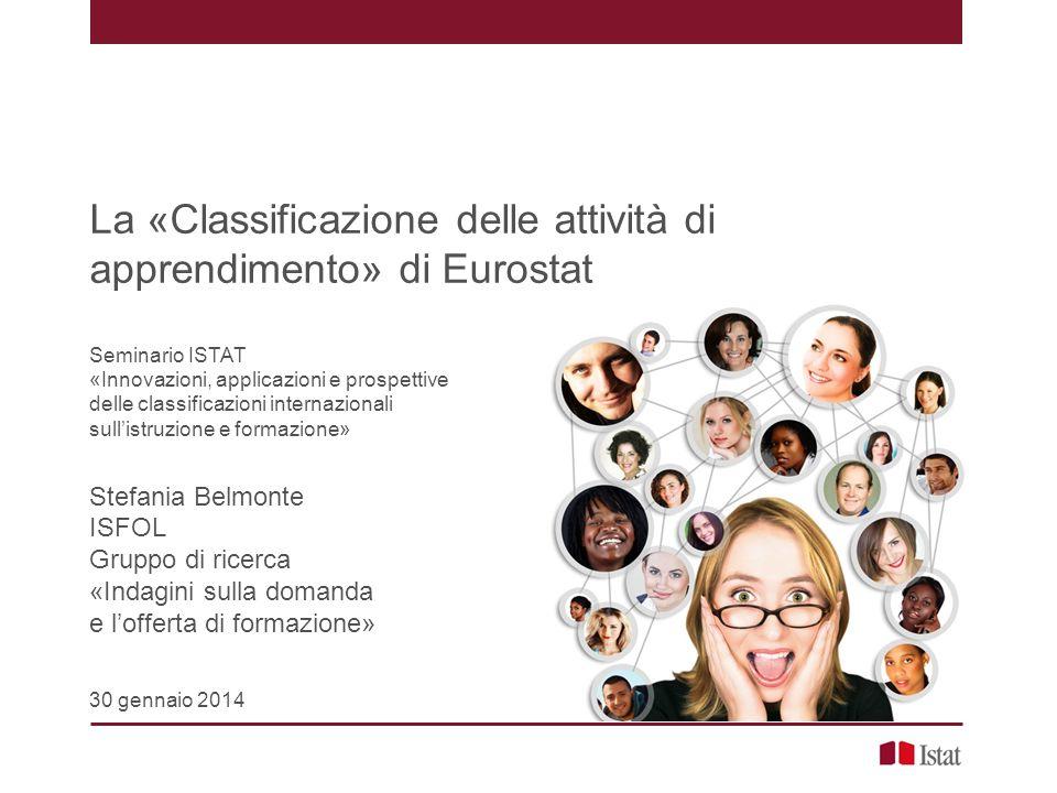 La «Classificazione delle attività di apprendimento» di Eurostat