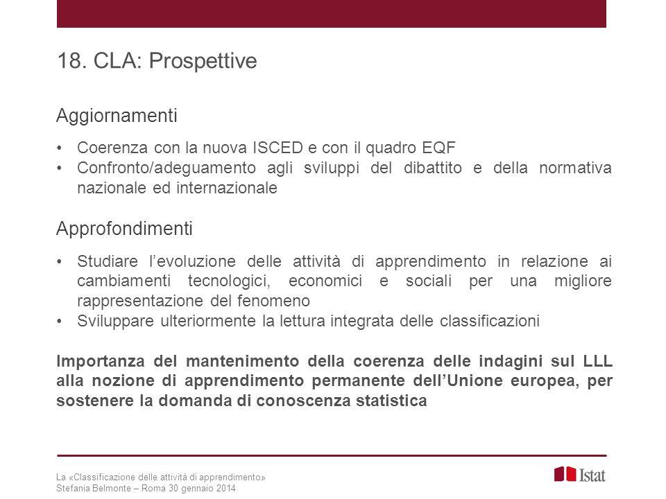 18. CLA: Prospettive Aggiornamenti Approfondimenti