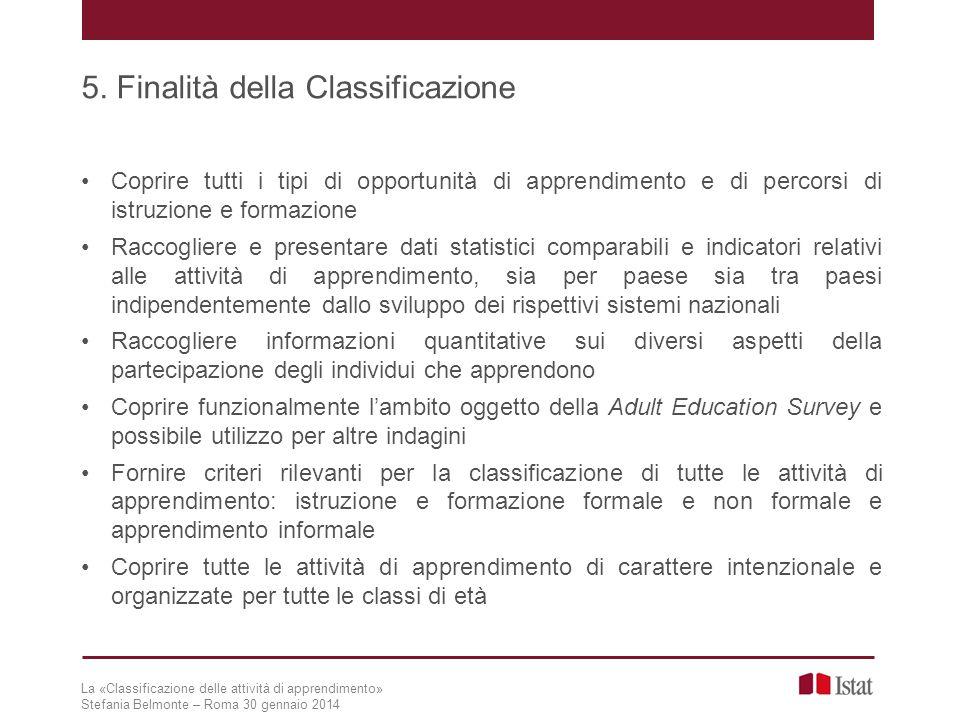 5. Finalità della Classificazione