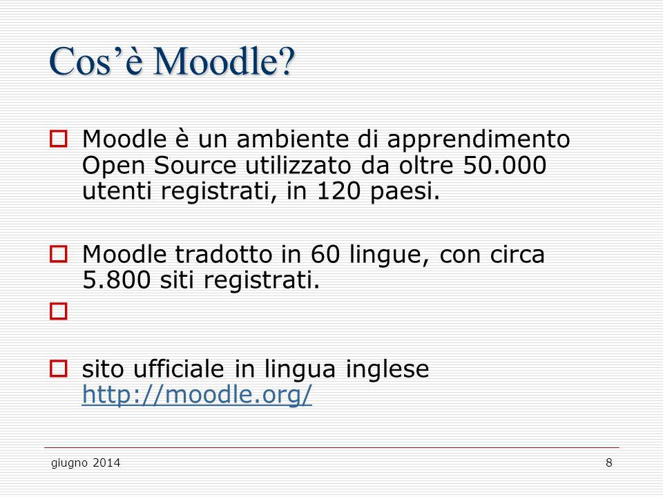 Cos'è Moodle Moodle è un ambiente di apprendimento Open Source utilizzato da oltre 50.000 utenti registrati, in 120 paesi.