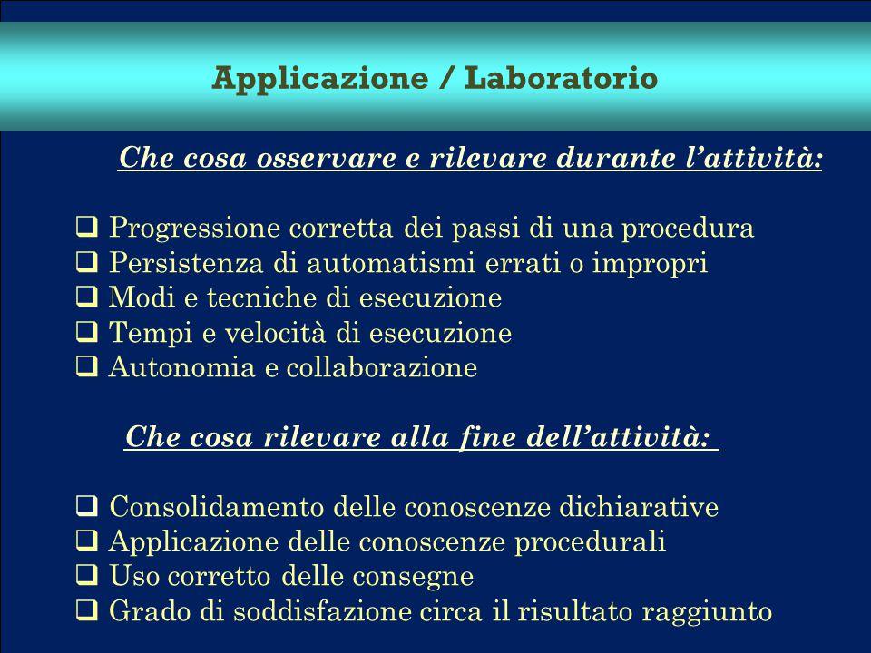 Applicazione / Laboratorio