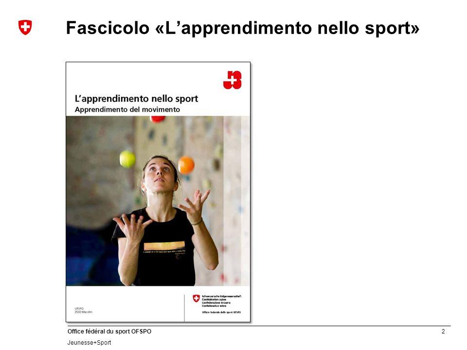 Fascicolo «L'apprendimento nello sport»