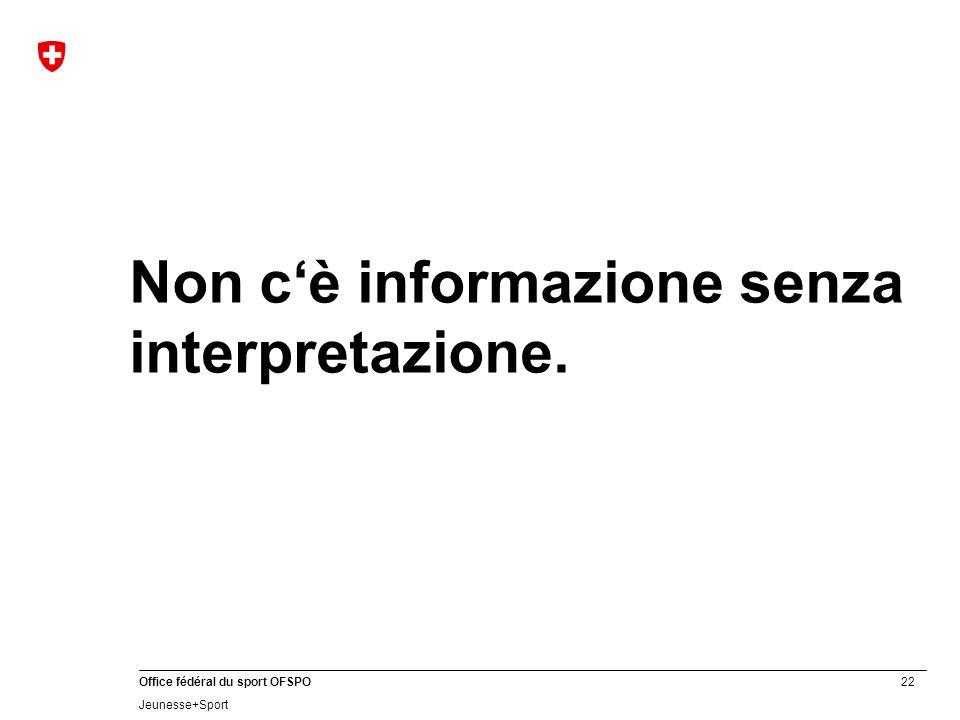 Non c'è informazione senza interpretazione.
