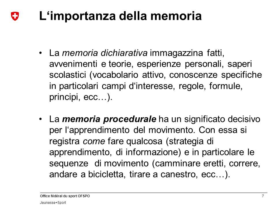 L'importanza della memoria