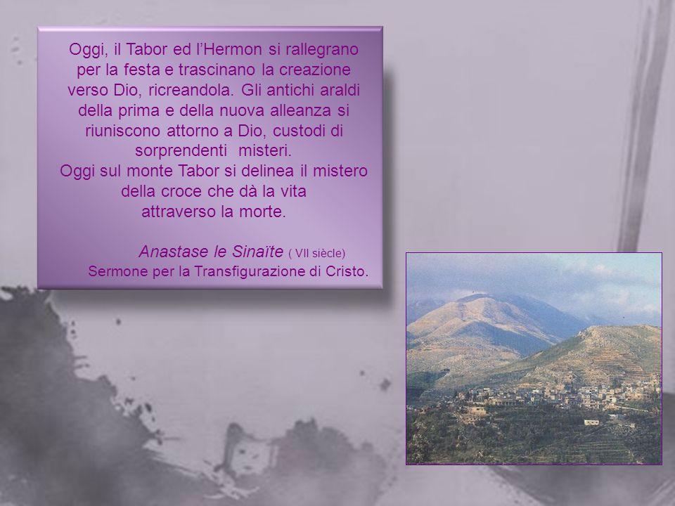 Oggi sul monte Tabor si delinea il mistero della croce che dà la vita