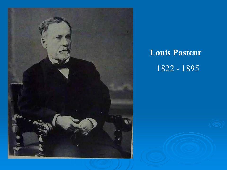 Louis Pasteur 1822 - 1895
