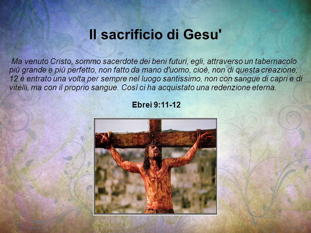 Il sacrificio di Gesu