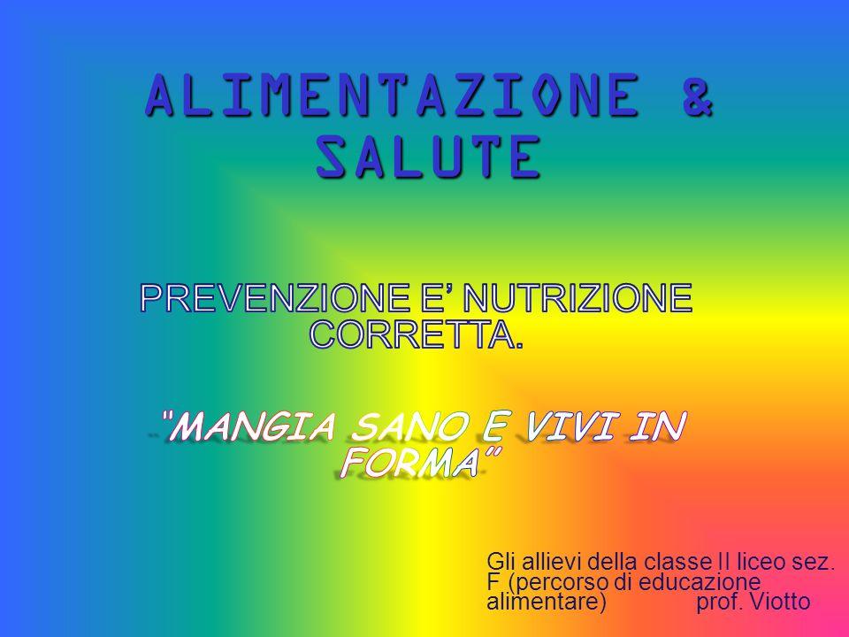 ALIMENTAZIONE & SALUTE