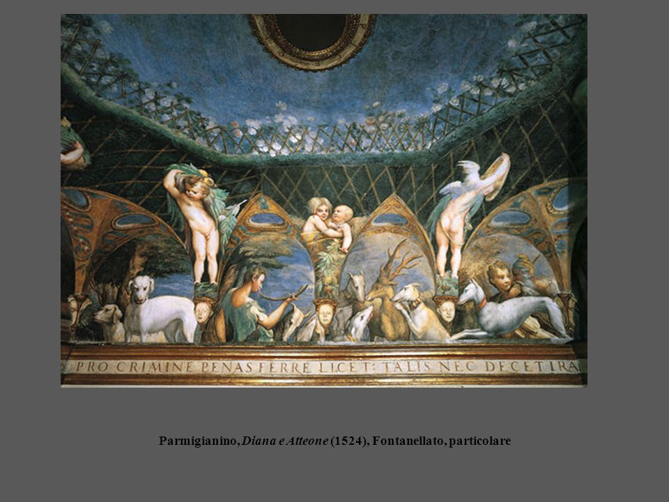 Parmigianino, Diana e Atteone (1524), Fontanellato, particolare