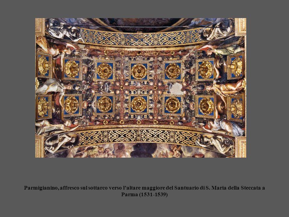 Parmigianino, affresco sul sottarco verso l'altare maggiore del Santuario di S.