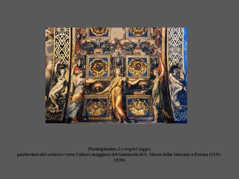 Parmigianino, Le vergini sagge, particolare del sottarco verso l'altare maggiore del Santuario di S.