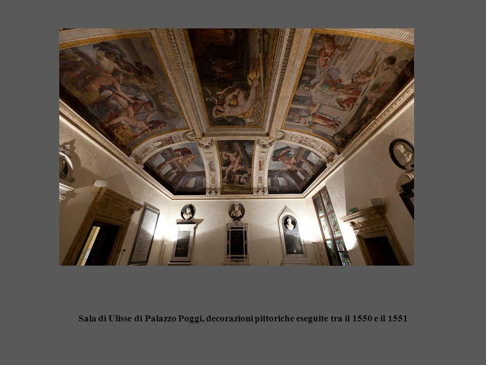 Sala di Ulisse di Palazzo Poggi, decorazioni pittoriche eseguite tra il 1550 e il 1551