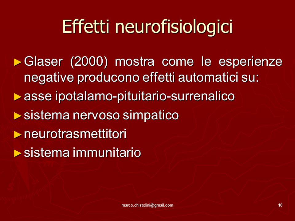Effetti neurofisiologici