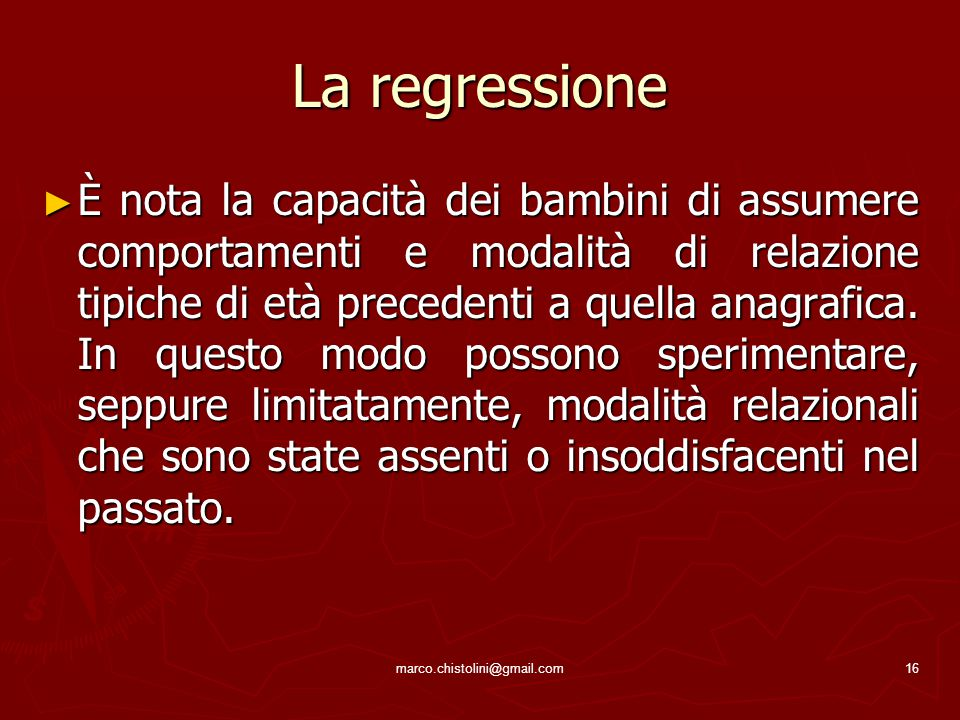 La regressione