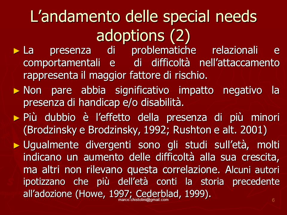L'andamento delle special needs adoptions (2)